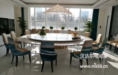 新中式电动餐桌-型号力量并:【美轮美奂】